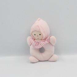 Doudou hochet poupée lutin rose IMAGINARIUM
