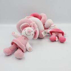 Spirale d'activités doudou Mimi la souris rose NICOTOY KIABI