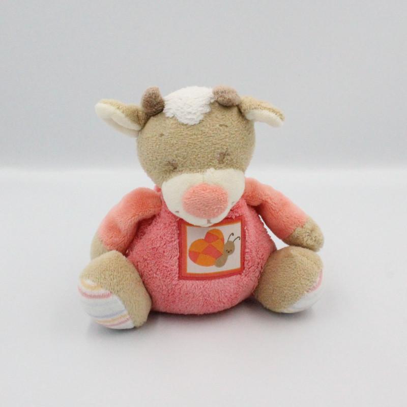 Doudou musical vache beige rose blanc les Zamis NATTOU
