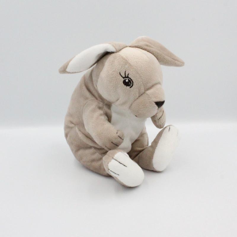 Doudou lapin kangourou marron blanc IKEA