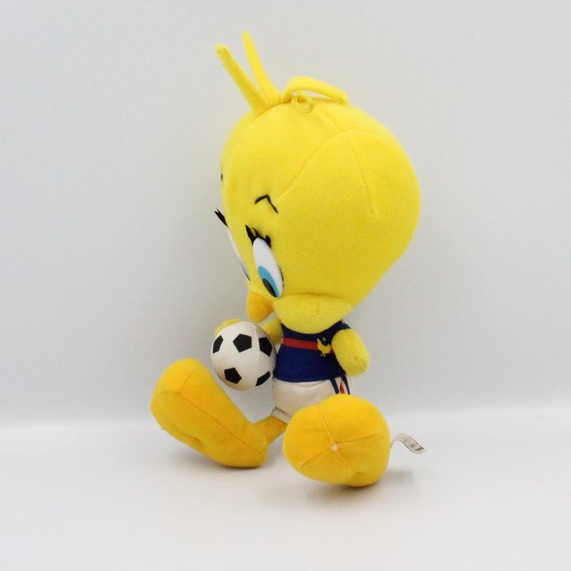 Peluche Titi Le Canari jaune Footballeur Foot France LOONEY TUNES
