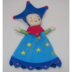 Doudou plat marionnette reine fée lutin Katherine Roumanoff VERBAUDET