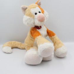 Doudou peluche renard chat beige orange blanc TRUDI