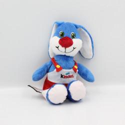 Doudou lapin bleu salopette rouge KINDER