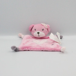 Doudou plat ours rose coeur Miss Choupette KIMBALOO