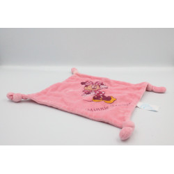 Doudou plat carré souris Minnie rose Minnie Mouse DISNEY