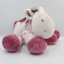 Grand Doudou poney cheval rose beige étoile Victoria et Lucie NOUKIE'S