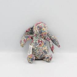 Mini Doudou lapin fleurs CYRILLUS