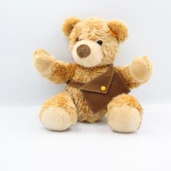 Peluche ours marron avec sac sacoche STEIFF