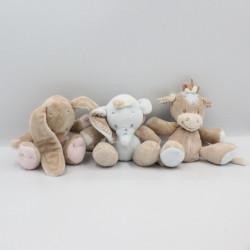 Mobile arche Doudou éléphant lapin poney NATTOU