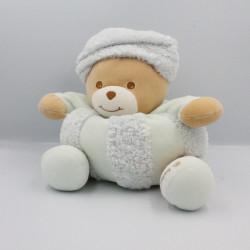 Doudou ours blanc bleu neige bonnet Russe TAKINOU