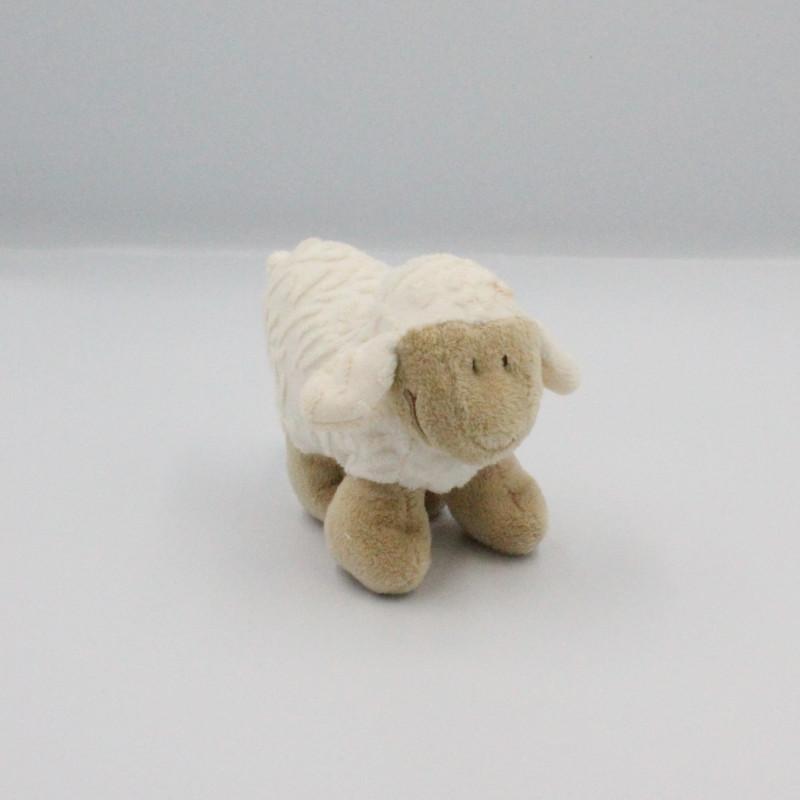 Mini Doudou mouton blanc beige JOLLYBABY