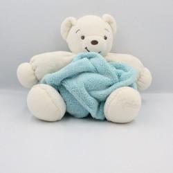 Doudou ours plume bleu ciel blanc KALOO