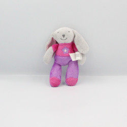 Mini Doudou Lapin gris rose...