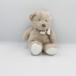 Doudou ours beige blanc étoiles POMMETTE