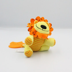 Doudou vibrant lion jaune orange PETIPOUCE