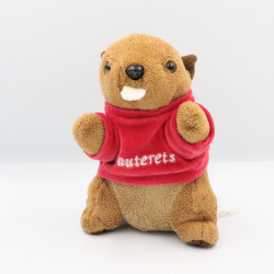 Doudou peluche marmotte Cauterets pull rouge