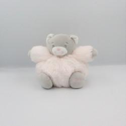 Doudou ours gris rose clair fourrure Fur KALOO