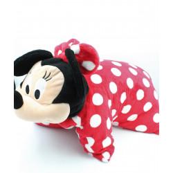 Grand coussin doudou Minnie rouge à pois DISNEY