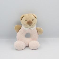 Doudou hochet ours beige rose NATTOU