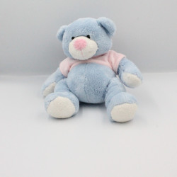 Doudou ours bleu rose ALTHANS CLUB