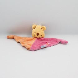 Doudou Plat Winnie l'Ourson rose orange DISNEY BABY