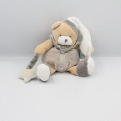 Doudou ours gris beige blanc étoile luminescent BABY NAT