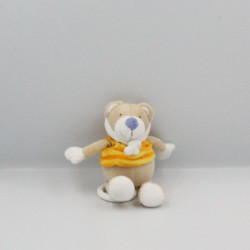 Doudou musical ours beige orange rayé BABY CLUB