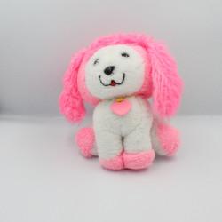 Ancienne peluche chien rose blanc Poochie MATTEL 1982