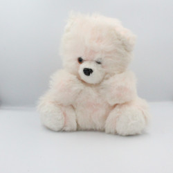 Ancienne peluche ours blanc rose BETTELLA