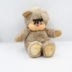 Ancienne Peluche ours beige Nombrilou AJENA