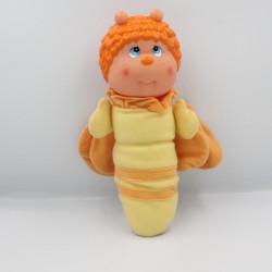 Ancien Doudou peluche Luciole abeille jaune orange SOMA 1985