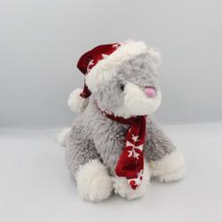 Doudou chat gris blanc Noël FRANCOISE SAGET