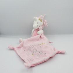 Doudou licorne rose blanc étoiles mouchoir SIMBA TOYS NICOTOY