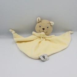 Doudou plat ours jaune POP ART