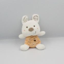 Doudou lapin blanc beige VETIR