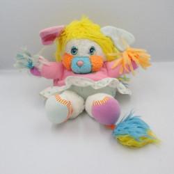 Peluche Popples pom pom girl rose blanc bleu Année 1987