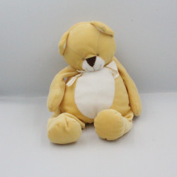 Doudou chat renard jaune blanc BENGY