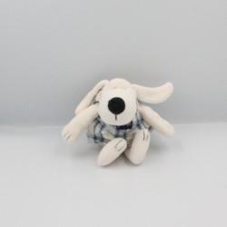 Doudou chien blanc bleu JEAN BOURGET