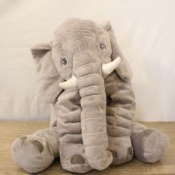 Doudou géant éléphant gris IKEA