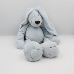 Doudou lapin bleu blanc