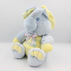 Doudou éléphant bleu jaune Stay Withme