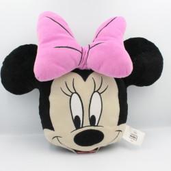 Coussin doudou Minnie noir noeud rose DISNEY