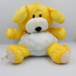 Peluche Puffalump chien jaune bleu pois BIKIN