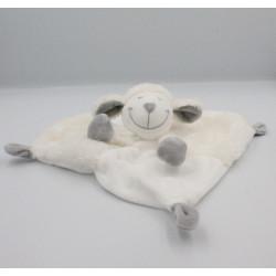Doudou plat mouton blanc gris PAT & RIPATON LA HALLE