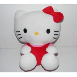 Doudou chat HELLO KITTY rose rouge SANRIO LICENSE
