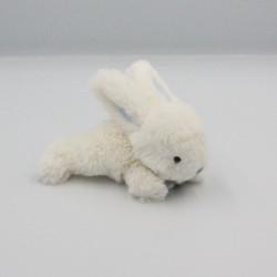 Mini Doudou lapin blanc bleu tout doux Bonbon DOUDOU ET COMPAGNIE