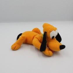 Peluche Chien orange Pluto collier vert DISNEY