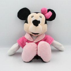 Doudou peluche Minnie en peignoir rose DISNEY NICOTOY
