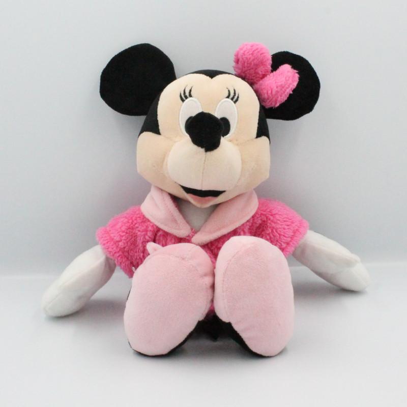 Doudou peluche Minnie en peignoir rose DISNEY NICOTOY